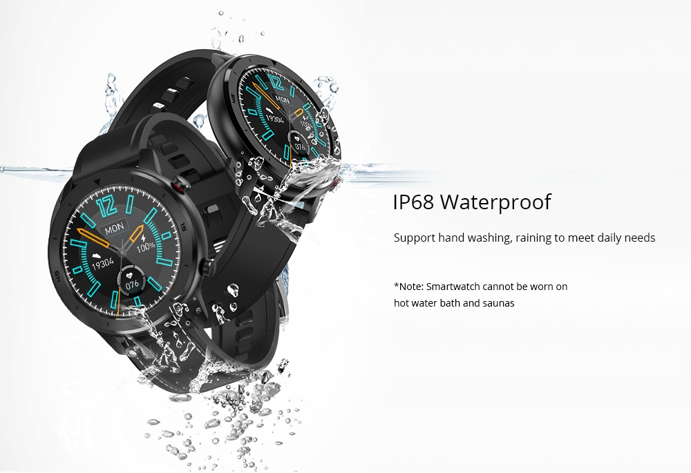 DTNO.1 DT78 1.3 inch Full Round Wristband Health Care Fitness Tracker IP68 Waterproof Smart Sports Watch - Green