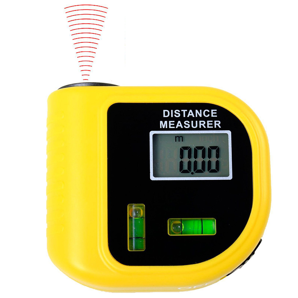 Wholesale CP-3010 Ultrasonic Rangefinder Handheld Electronic Measuring Instrument - Sun Yellow