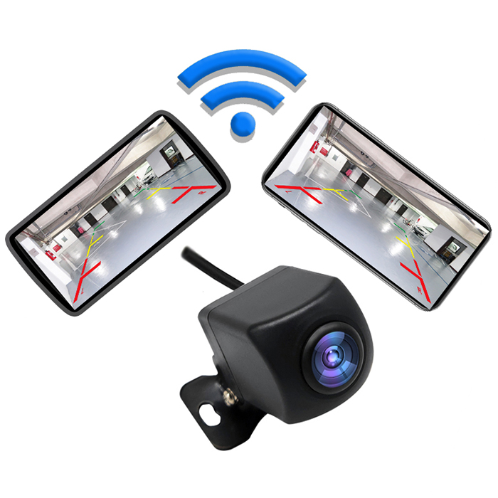 Wholesale Universal 720P Car Wireless Backup Camera Vehicles WiFi Camera IP67 Waterproof - Black