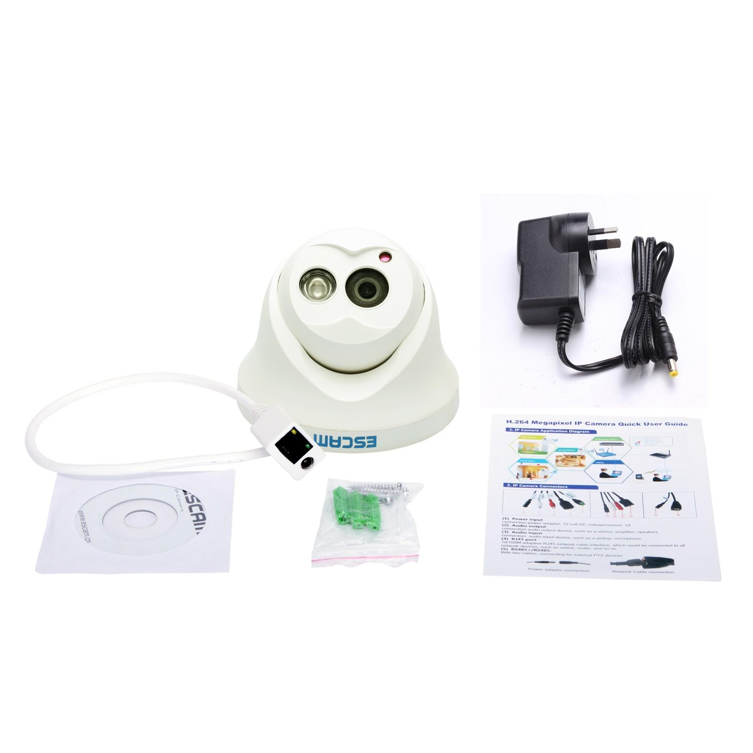 Escam QD100 OWL 720p Security IP Camera with ONVIF, Night Vision, Motion Detection