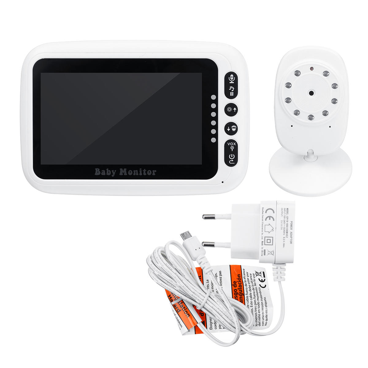 Wholesale Wireless 4.3 Inch Baby Monitors Two-Way Intercom Monitor Audio Video Wireless Digital Camera Night Vision Safety Viewer
