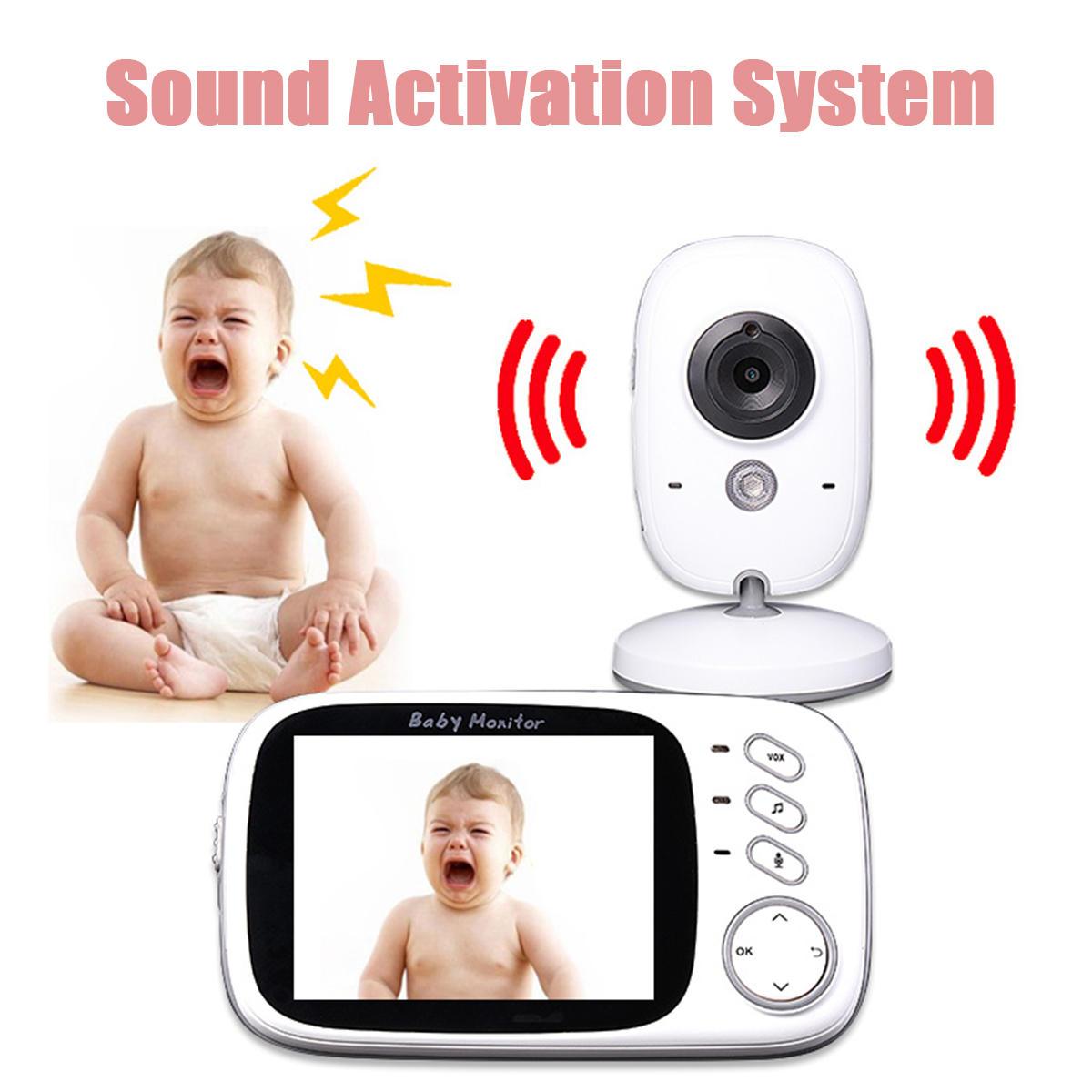 3.2 Inch Digital Wireless Baby Monitors 2 Way Talk Night Vision Video Audio Camera