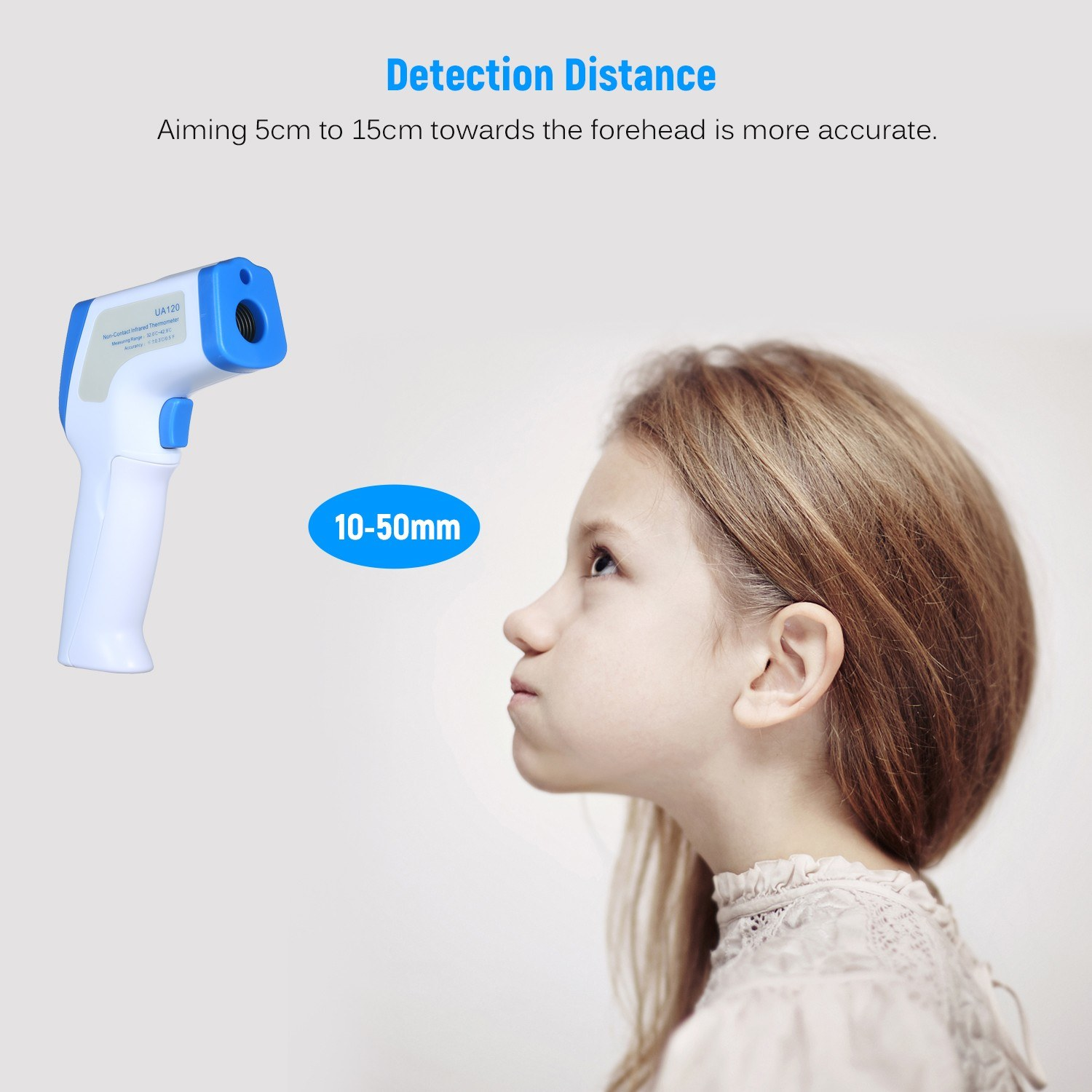 Non-contact High Accuracy Portable Infrared Thermometer - Measure Forehead / Body Temperature