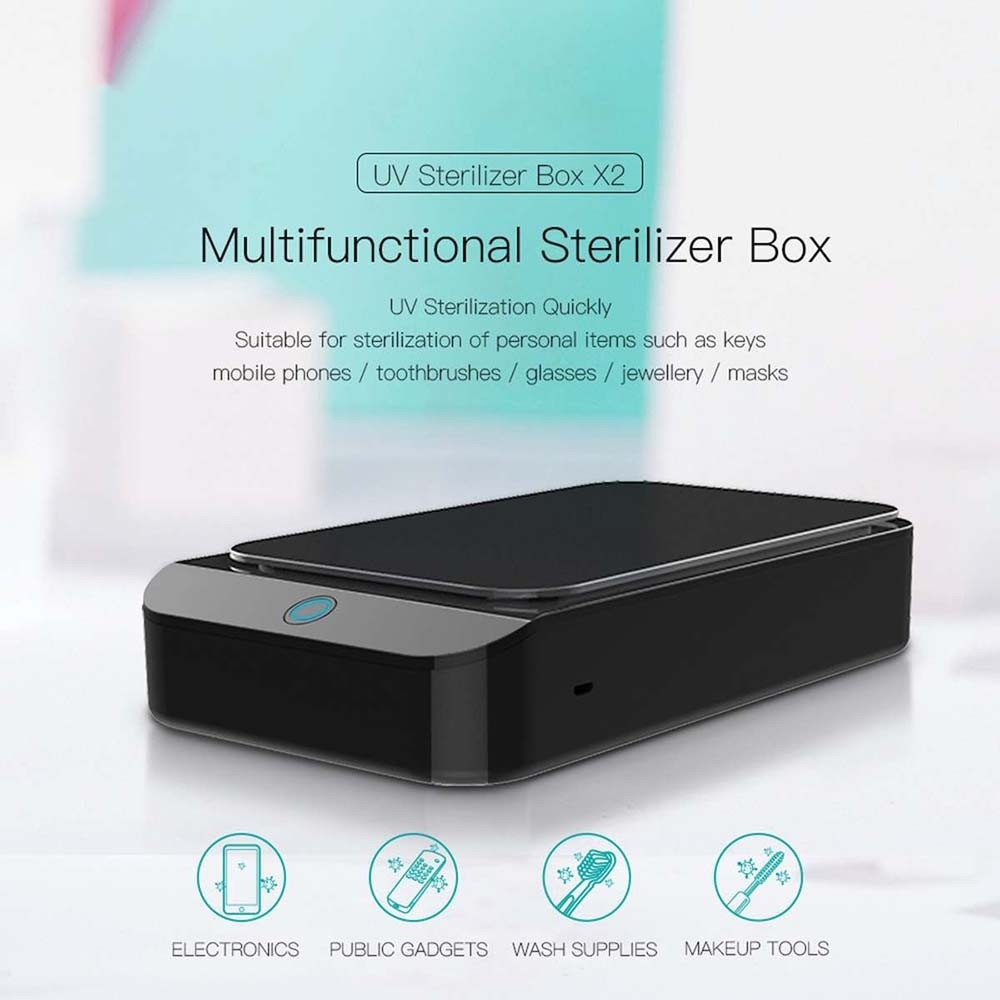 UV Ste-rilizer Box Disin-fect Tool W/ Charger for Mobile Phone, Face Mask, Glasses, K-ey, Toothbrush