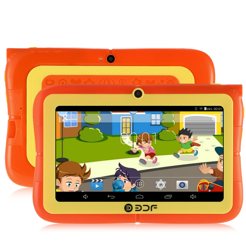 Wholesale BDF E86 7 Inch Quad Core Kids Tablet PC with Stand and Protective Case (Bluetooth, Wi-Fi, Dual Camera)