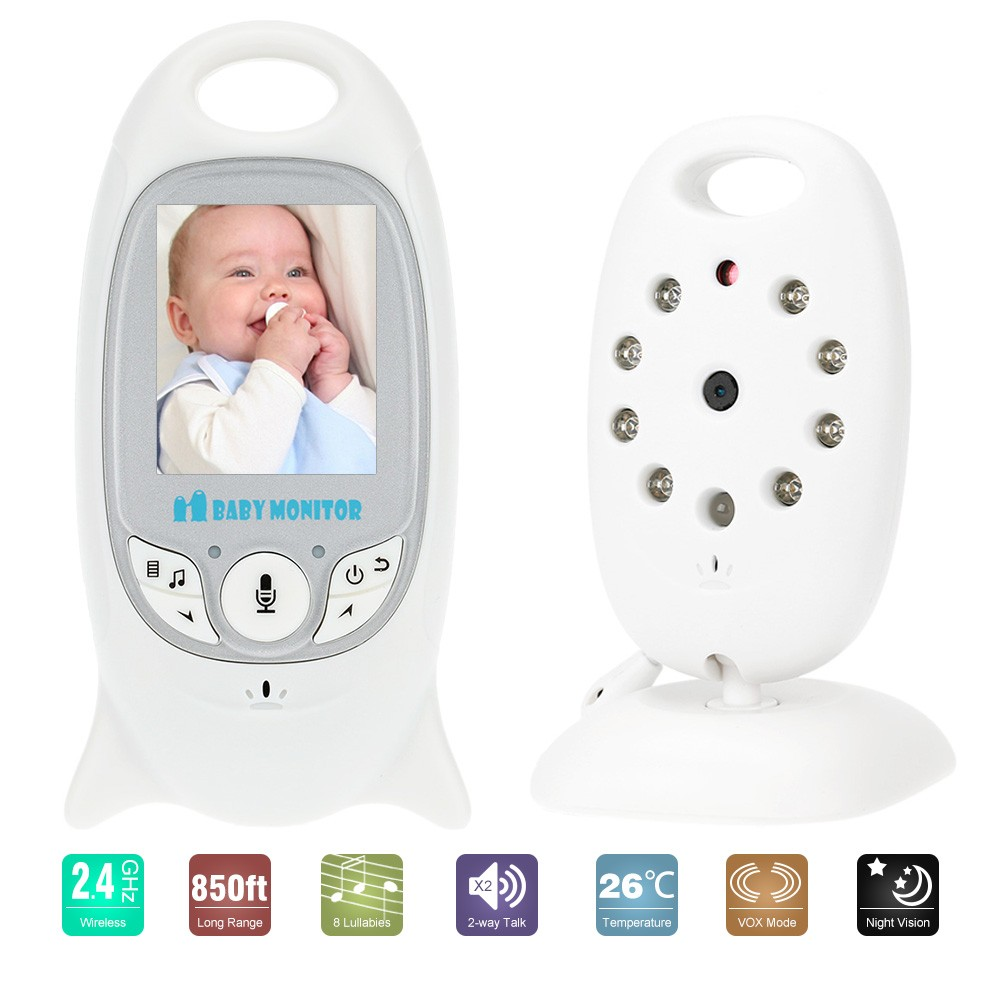 Wholesale Portable 2.4GHz Two Way Talk Wireless Baby Monitor (8 IR LEDs Night Vision, VOX, 2 Inch LCD)