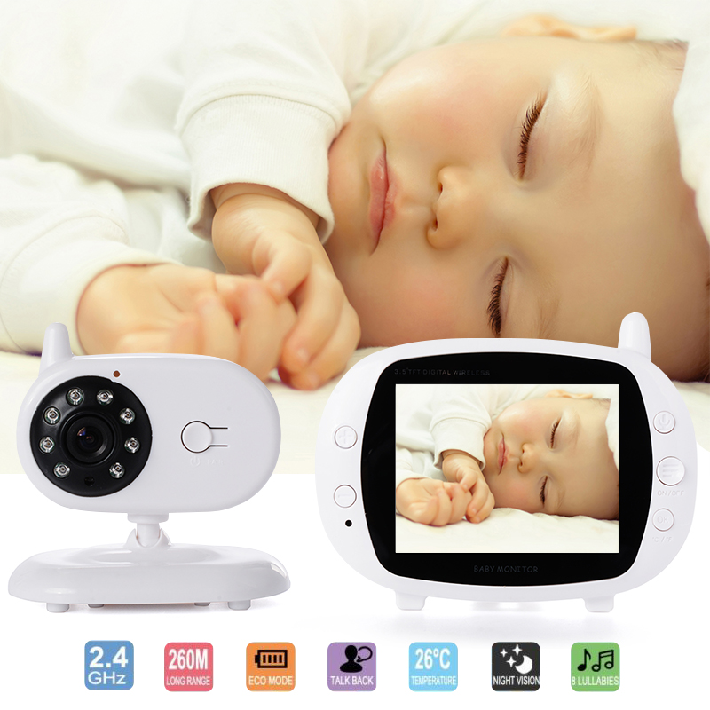 Wholesale Two Way Intercom Night Vision Wireless Baby Monitor with 3.5 Inch Screen