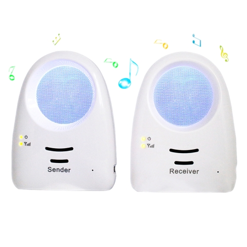 Wholesale Real-time Voice-activated Baby Monitor - Blue/Yellow Light up to 300 Meter