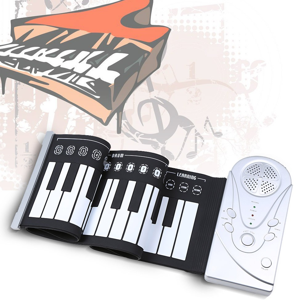 Wholesale Portable Flexible Roll Up Piano Electronic Soft Keyboard Piano 49 Keys