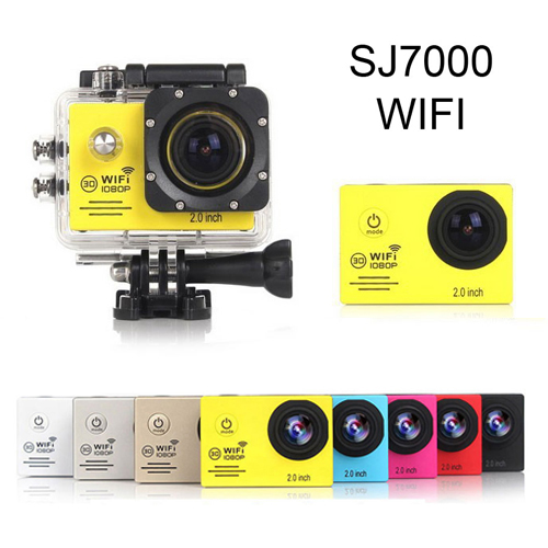 Wholesale FULL HD 1080P Wi-Fi 12MP Waterproof Sports Action Video Camera (2.0 Inch, 4x Zoom, H.264)