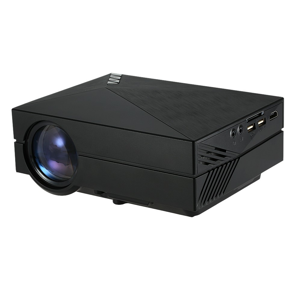 Wholesale GM60 Multimedia LED Projector HD 1080p Home Cinema Theater (1000 Lumens, HDMI, Black)