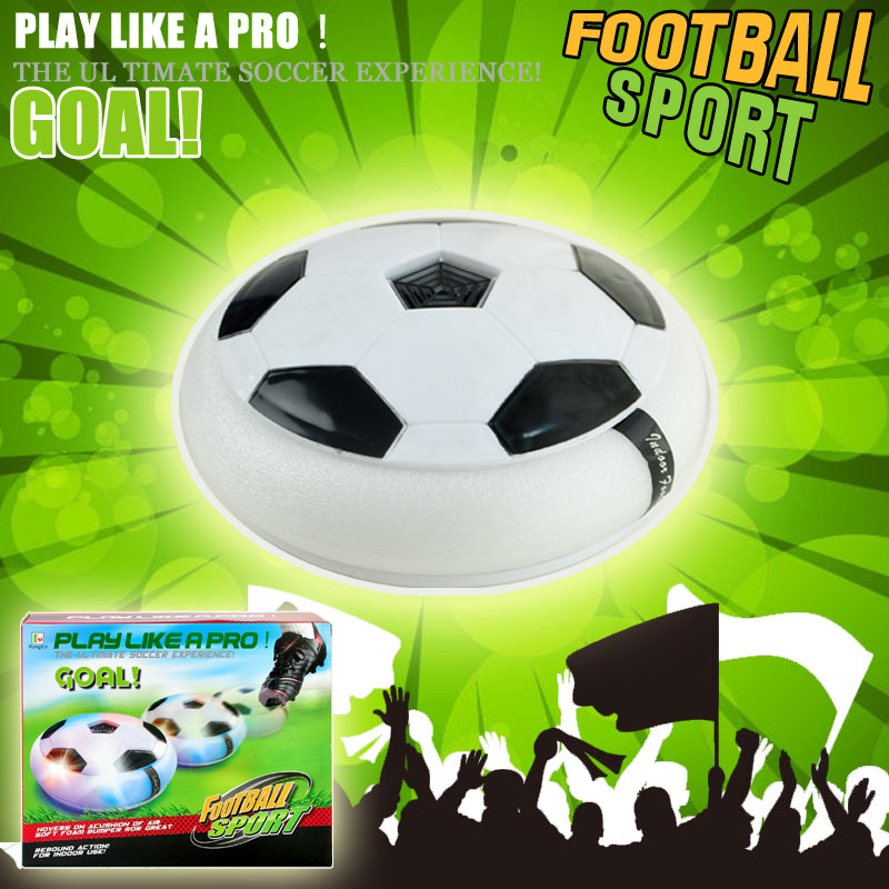 Wholesale Air Power Soccer Disc Float Indoor Football Toy with Multicolor LED Lights