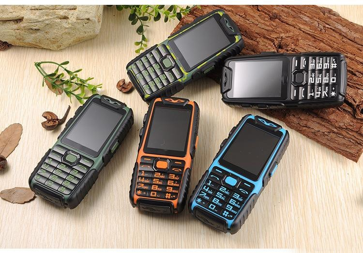 Wholesale GuoPhone A6 Rugged Phone + LED Flashlight + 9800mAh Power Bank