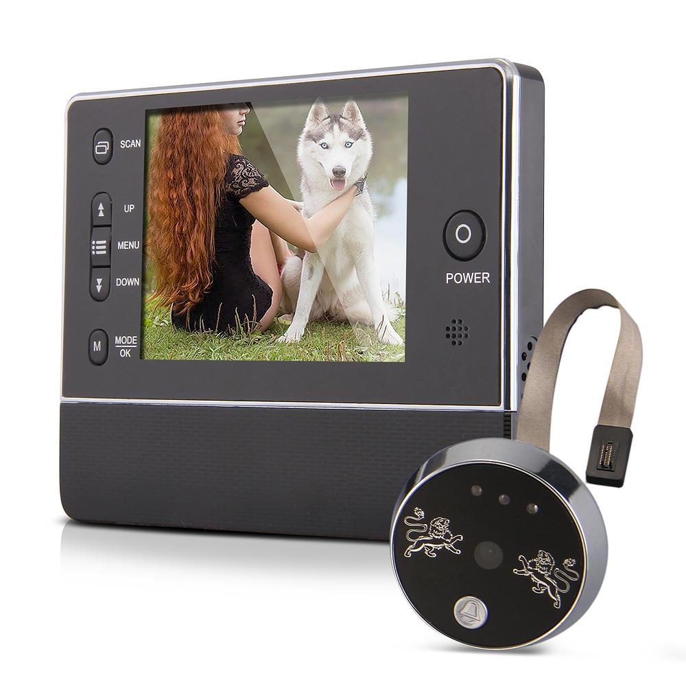 Wholesale 3.5 Inches TFT LCD Doorbell Peephole Viewer Camera Night Vision