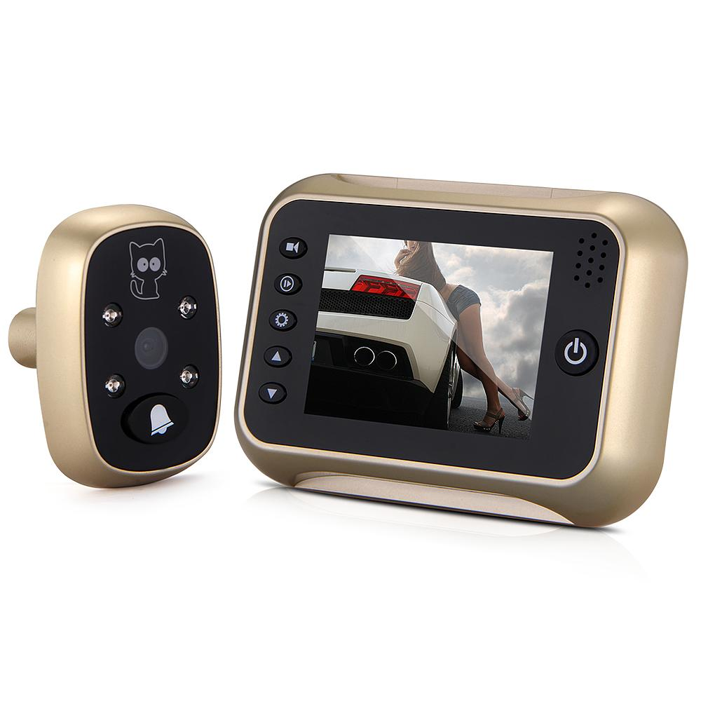 "Wholesale 3.5"" Smart LCD IR Camera Digital Visual Doorbell peephole viewer"