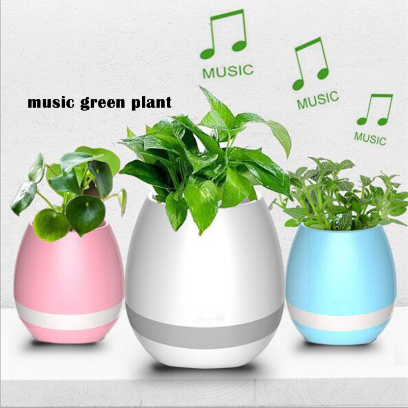 Wholesale Touch Control Waterproof LED Music Flower Pot Vase with Piano, Bluetooth Speaker and LED Light