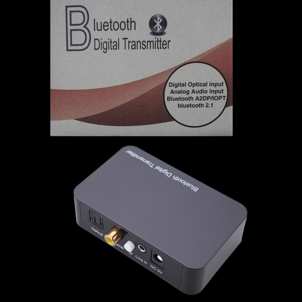 Bluetooth V2.1 Multimedia Digital Transmitter with Optical/Coaxial/3.5mm Audio Video Port