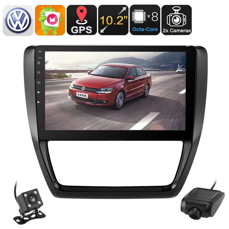 Wholesale 10.2 Inch 1 DIN Car Stereo for Volkswagen Jetta (Car DVR, Parking Camera, WiFi, 3G, CAN BUS, Octa-Core CPU, GPS)