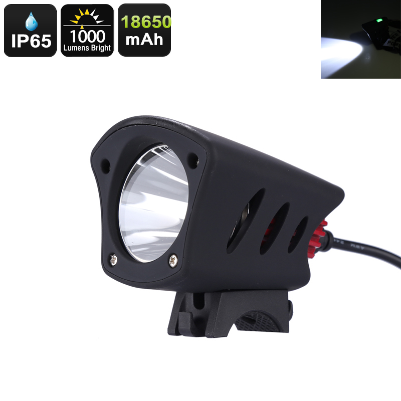 Wholesale Durable IP65 Waterproof 1000 Lumen Bike Light with 250 Meter Light Range
