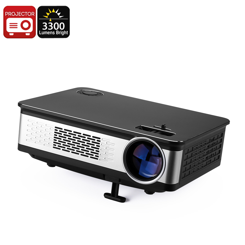 Wholesale 100W LED Projector - 3300 Lumens, Metal Body, HD Support, 1.67 Million Colors, AV, HDMI, VGA, Built-In Speaker