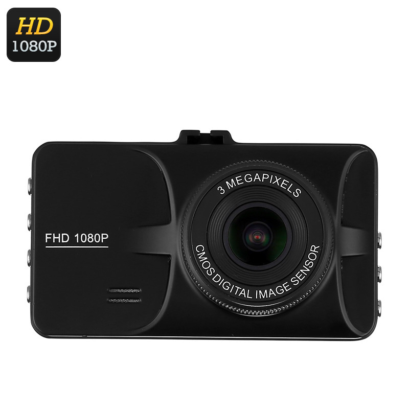 Wholesale 3 Inch 1080p Full-HD Car DVR (140 Degree Wide Angle, Motion Detection, 12MP Pictures)