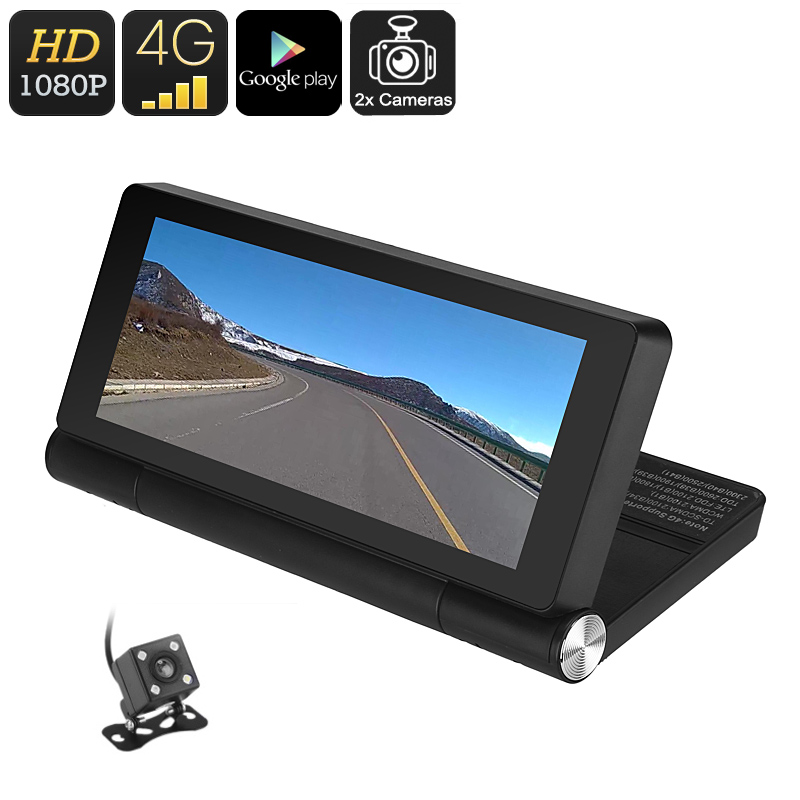 Wholesale 7 Inch 1080p Android Car DVR with GPS and Rear View Parking Camera (4G/WiFi, Motion Detection, Bluetooth)