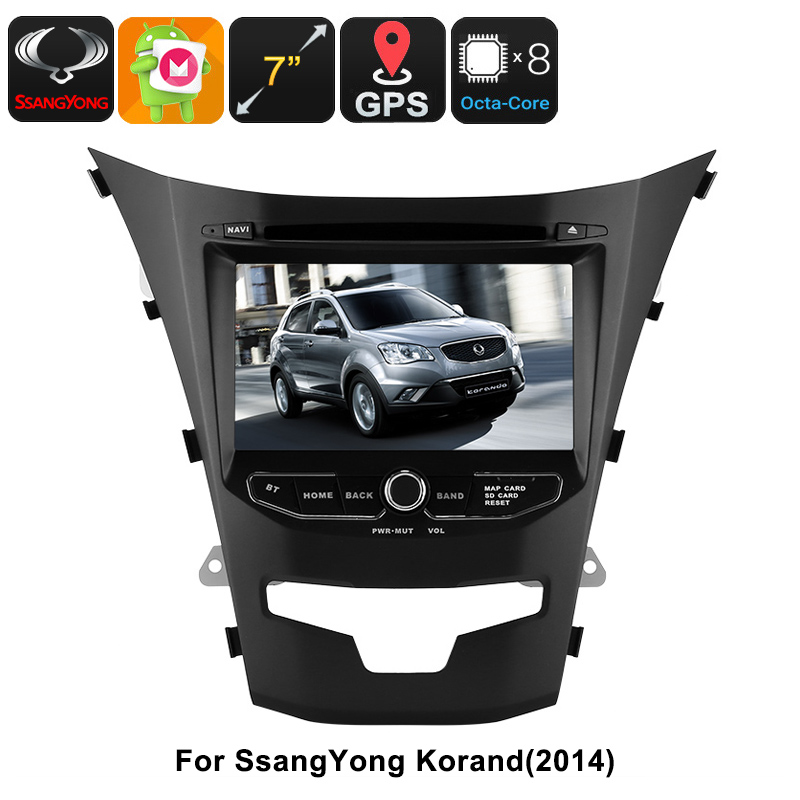 Wholesale 2 DIN Car DVD Player - For SsangYong Korando, 7 Inch HD Display,