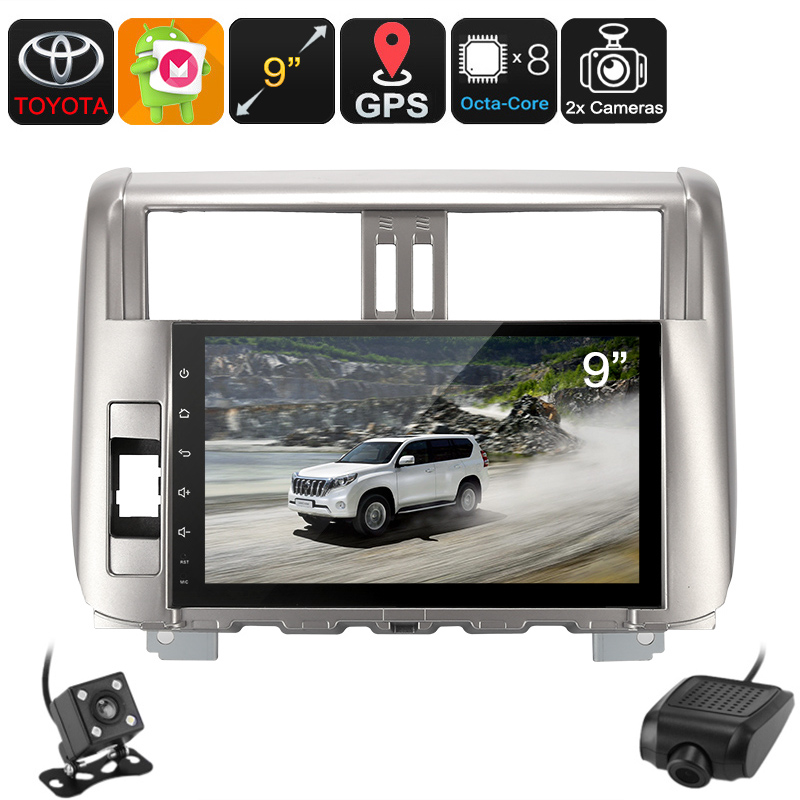 Wholesale 2 DIN Car Stereo - For Land Cruiser Prado, Car DVR, Rear View Camera, GPS, Android 6.0, WiFi, 3G, 9-Inch Display, Bluetooth