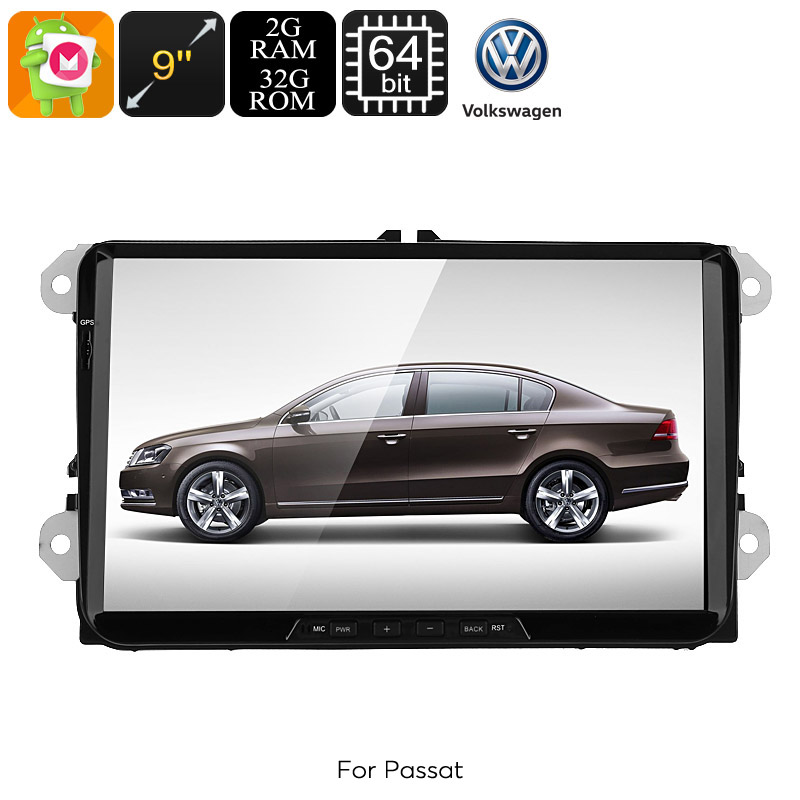 Wholesale 9 Inch HD 2 DIN Android 6.0 Car Stereo for VW Passat (Bluetooth,