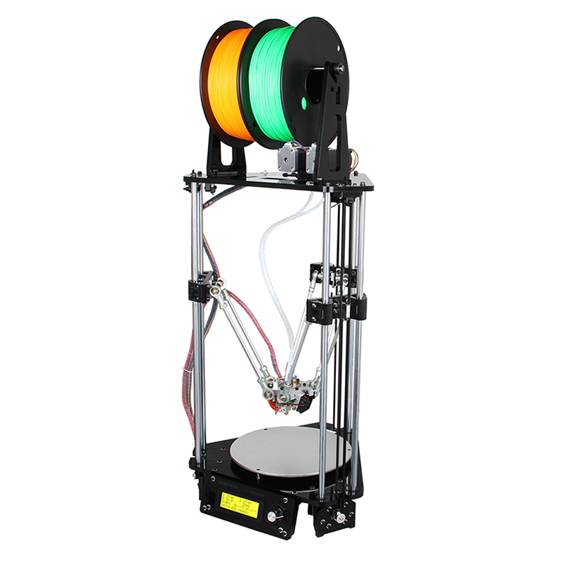 Wholesale Geeetech Delta Rostock Mini G2s DIY 3D Printer (2 Colors, Auto-Leveling, Wide Filament Range, Large Printing Volume)