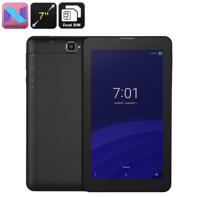 Wholesale 3G Android Tablet - Android 7.0, Quad-Core CPU, Dual-IMEI, 7-Inch Display, 2200mAh, WiFi, 2MP Camera, Bluetooth