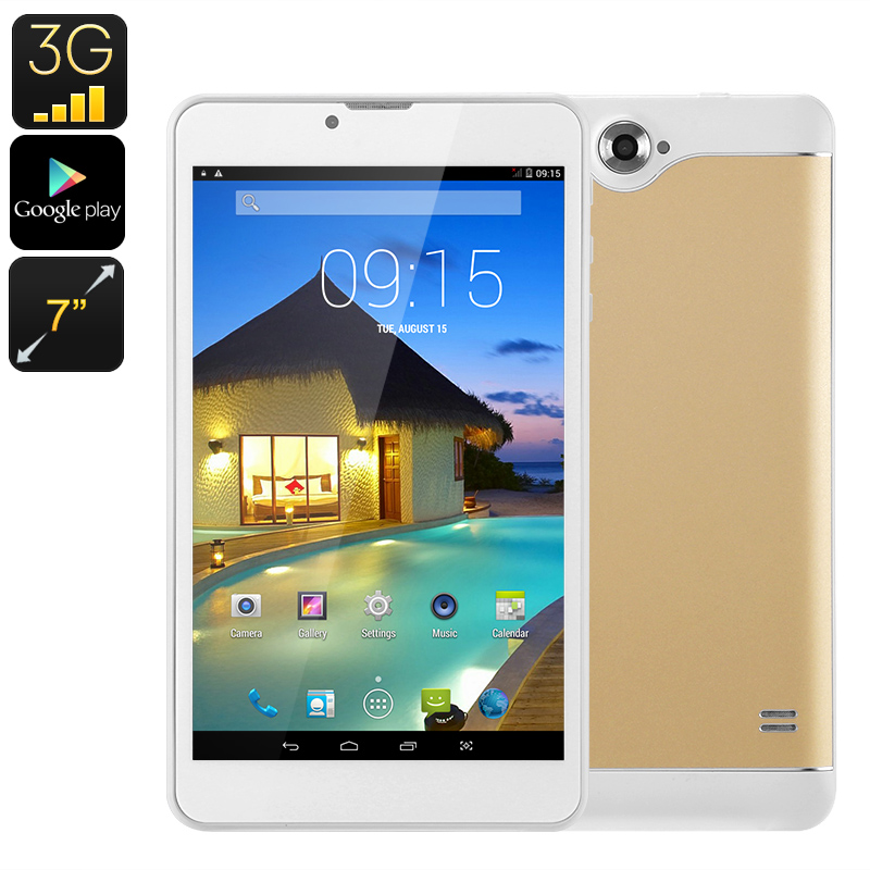 Wholesale 7 Inch 3G Dual SIM Phone Android Tablet (Bluetooth, Quad-Core CP
