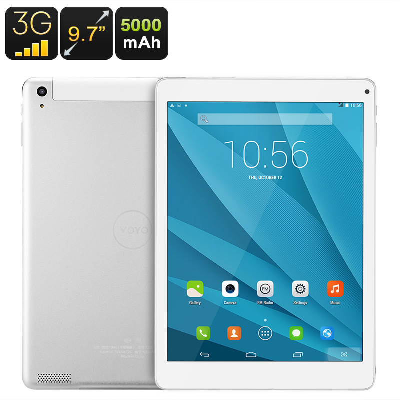 Wholesale 3G Android Tablet - Quad-Core CPU, 9.7-Inch HD Display, 3G Support, WiFi, Dual-IMEI, Bluetooth 4.0, 5000mAh Battery
