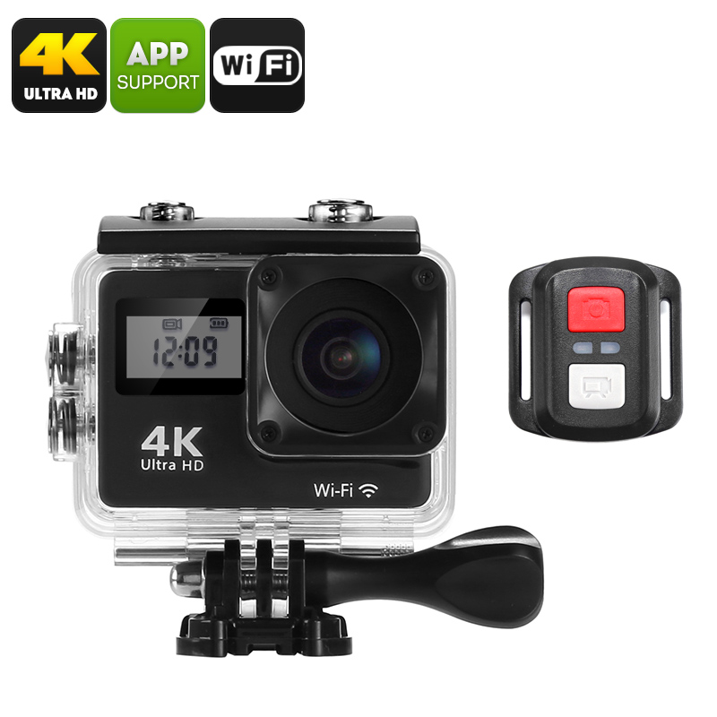 Wholesale 4K Sports Action Camera (170-Degree Lens, WiFi, 2 Inch Display, IP68 Waterproof Case, 16MP CMOS Sensor, App Support)