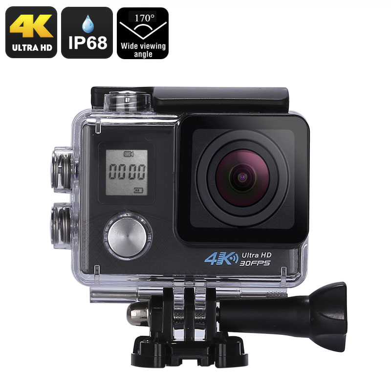Wholesale 4K Sports Action Camera (Sony 16MP 1/3.2-Inch CMOS, 170-Degree Lens, 2-Inch Display, 4K Video, 16MP Photo, WiFi, IP68)
