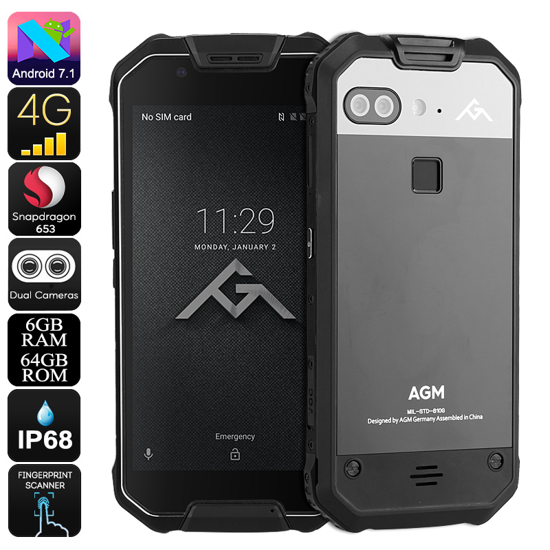 Wholesale AGM X2 5.5 Inch 4G Rugged Android Phone (Octa-Core CPU, 6GB RAM, IP68 Waterproof, 12MP Dual-Camera, 64GB)