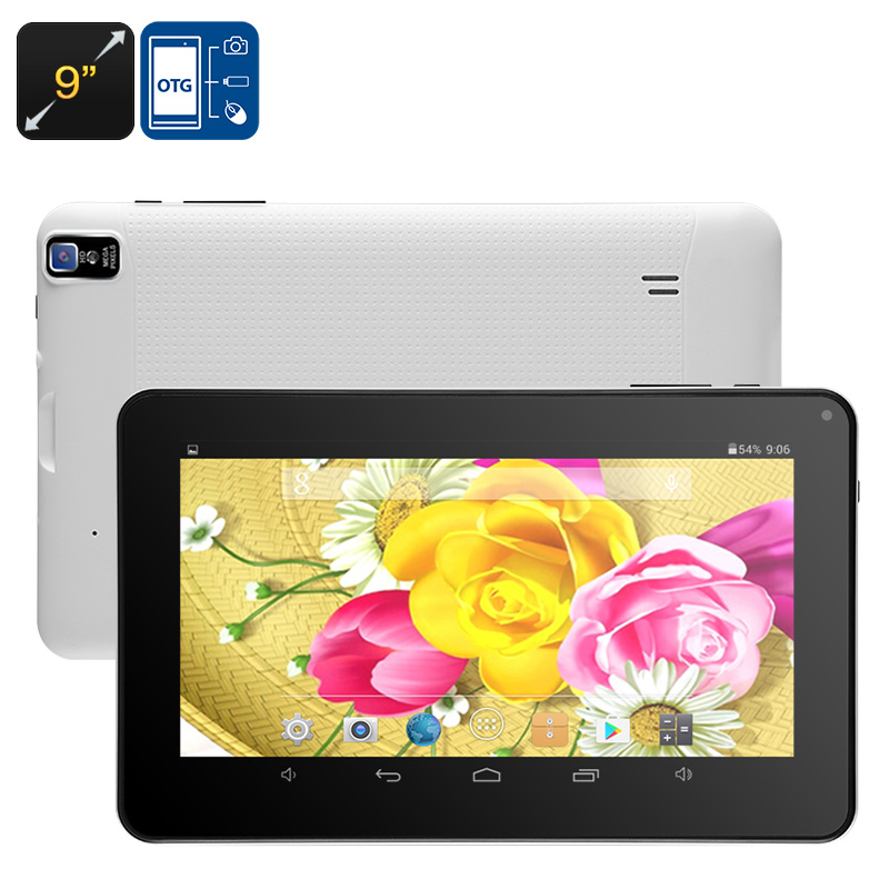 Wholesale 9 Inch HD WiFi Android Tablet PC (Quad-Core CPU, Bluetooth, OTG, 8GB)