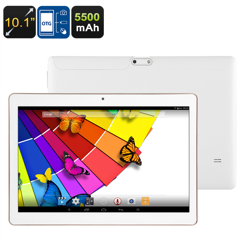 Wholesale Android Tablet PC - Quad-Core CPU, 10.1-Inch Display, Bluetooth Support, 2MP Camera, WiFi, 5500mAh Battery, 32GB ROM, OTG