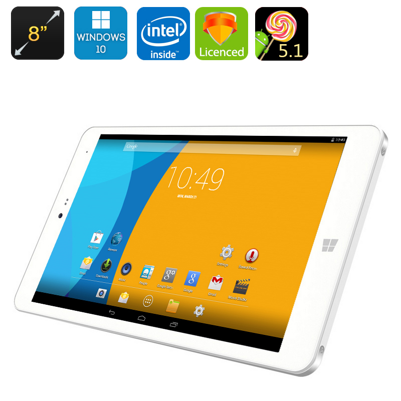 Wholesale CHUWI Hi8 Pro Windows 10 + Android Tablet PC - 8 Inch 1920x1200 Display, USB Type-C, Mini HDMI, OTG, Bluetooth