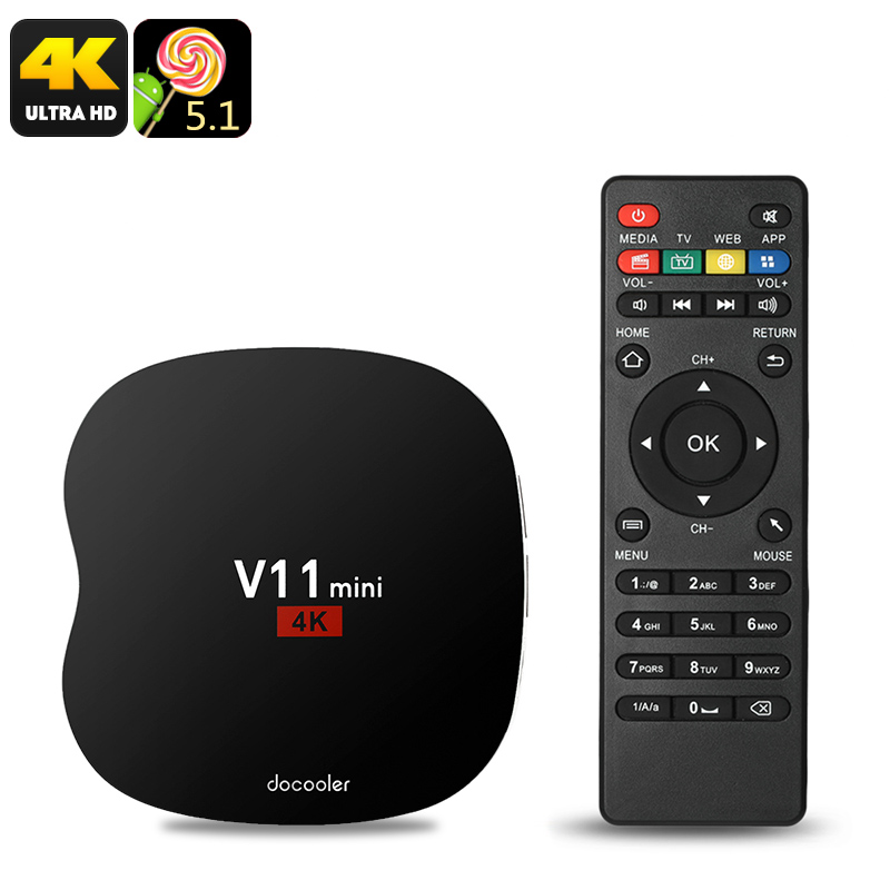 Wholesale COOWELL V11 Mini Android TV Box - Android 5.1, Quad-Core CPU, 4K