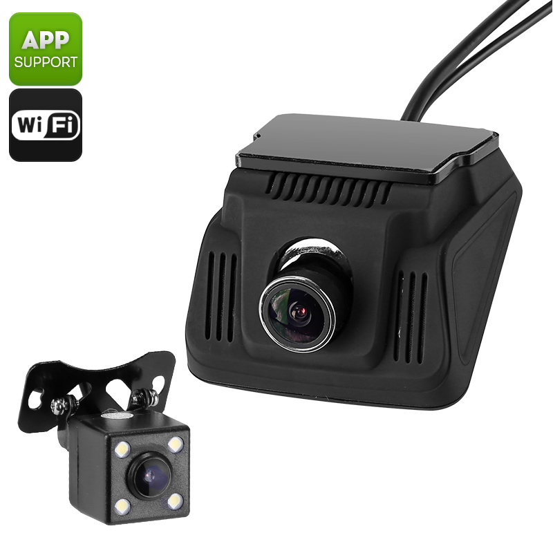 Wholesale Car Safety DVR with Front Dash Cam and Reverse Rearview Camera (Wi-Fi, Loop Recording, Ignition Start)