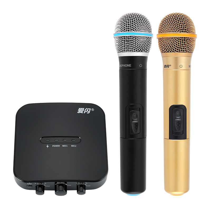 Car Karaoke Machine (2x Wireless Microphone, Bluetooth 3 0, 1050mAh