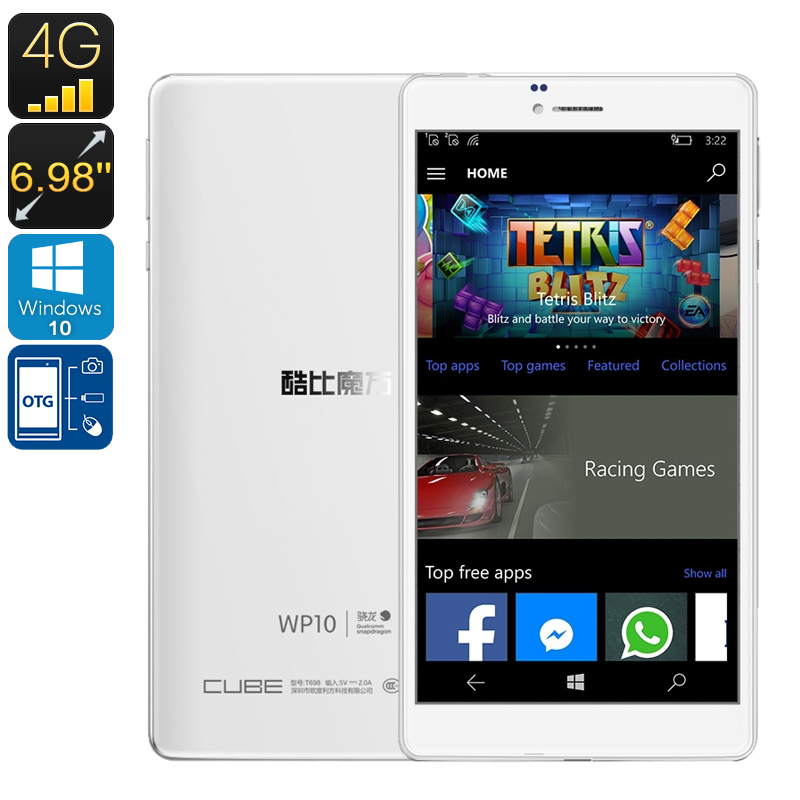 Wholesale Cube WP10 6.98 Inch 4G Licensed Windows 10 Tablet Phone (Quad-Core CPU, OTG, 2GB RAM, 16GB)