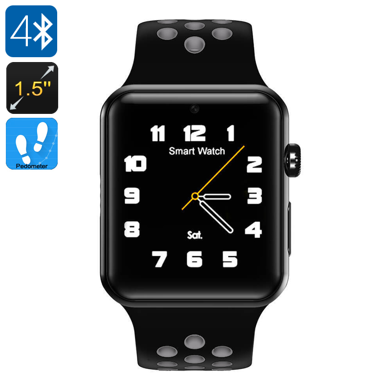 Wholesale DM09 Plus Bluetooth 4.0 Smart Watch Phone (1.5 Inch Touchscreen, 1 SIM, SMS, Calls, Pedometer, Black + Gray)