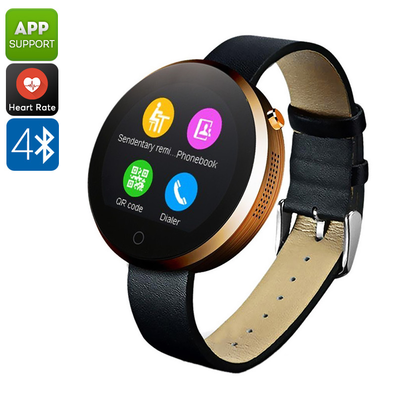 Wholesale DM360 IP53 Waterproof Bluetooth Watch (Calls + Message, Heart Rate Monitor, Pedometer, Sleep Monitor, Gold)
