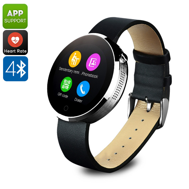 Wholesale DM360 IP53 Waterproof Bluetooth Watch (Calls + Message, Heart Rate Monitor, Pedometer, Sleep Monitor, Silver)