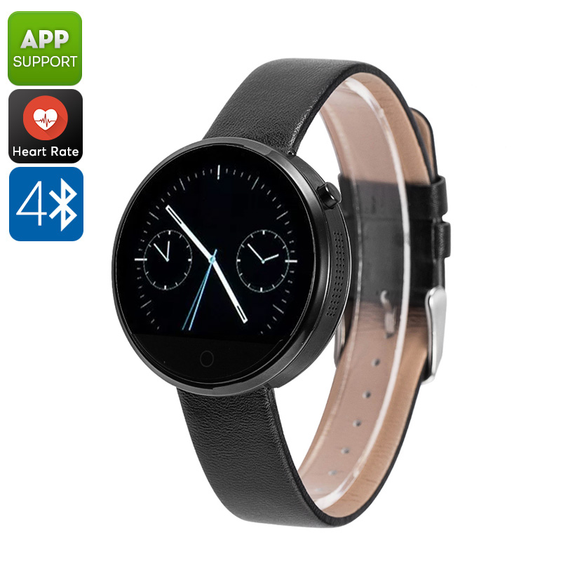 Wholesale DM360 Smart Watch (Heart Rate Monitor, App Support, 320mAh, Bluetooth 4.0, Calls, Messages, Pedometer, Sleep Monitor, Black)