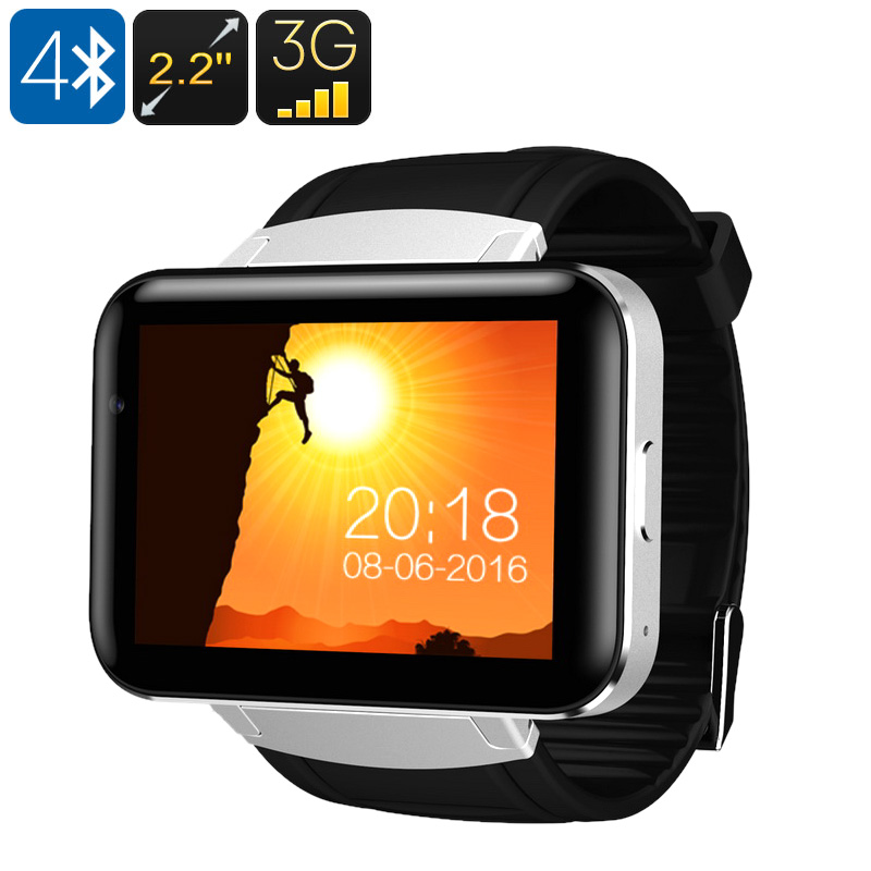 Wholesale DM98 WiFi 3G Smart Android Watch Phone with Built-In Mic + Speakers (Bluetooth, 1.3MP Camera, Silver)