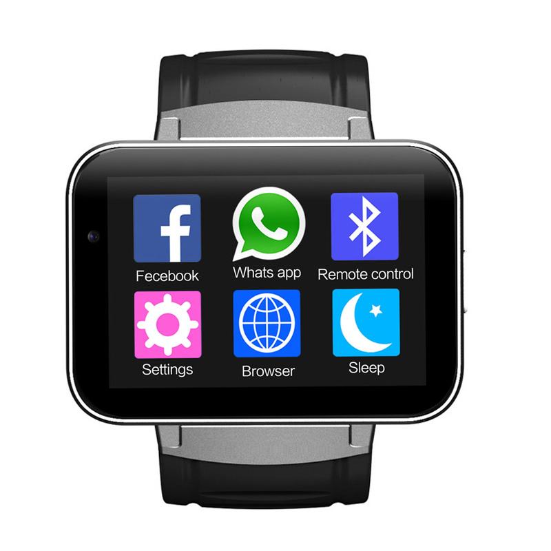 DM98 WiFi 3G Smart Android Watch Phone with Built-In Mic + Speakers (Bluetooth, 1.3MP Camera, Silver)