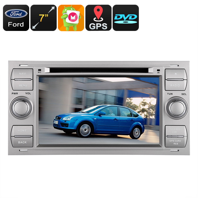 Wholesale 7 Inch Dual-DIN Android Car DVD Player for Ford (Octa-Core, 2GB RAM, Bluetooth, 3G, 20-Ch GPS, CAN BUS, 32GB)